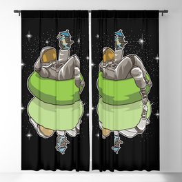 Pool Party Astronaut - Summer Space Blackout Curtain