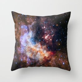 picture of star by hubble : celestial firework Throw Pillow