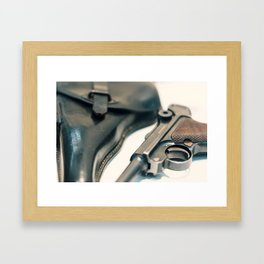 Luger P08 Parabellum handgun. Framed Art Print