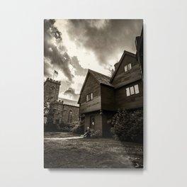 Corwin House - Salem MA - Black and White Metal Print