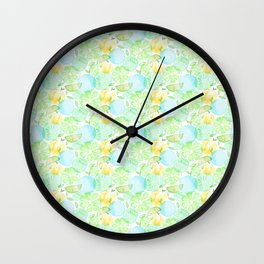 Green fruits Wall Clock
