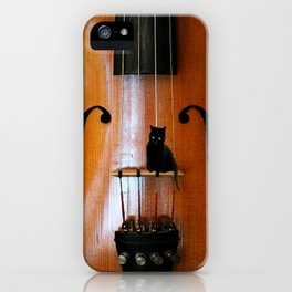 Black Cat And Violin #decor #society6 iPhone Case