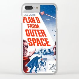 Vintage poster - Plan 9 from Outer Space Clear iPhone Case