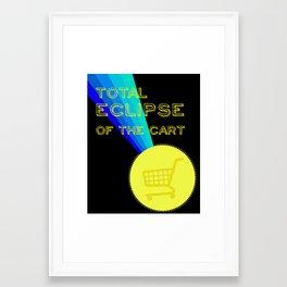 ECLIPSE OF THE CART Framed Art Print