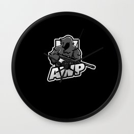 AWP player role FPS Egoshooter Gamer Wall Clock