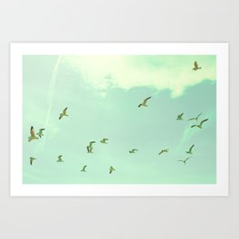 Waves in the Sky Art Print