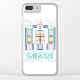 Miami Landmarks - The Berkeley Shore Clear iPhone Case
