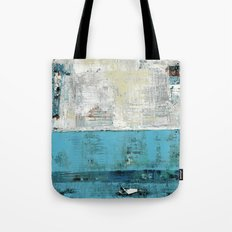 Fairbanks Abstract Light Blue White Tote Bag
