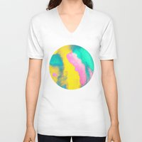 florida V-neck T-shirts featuring Florida by elena + stephann