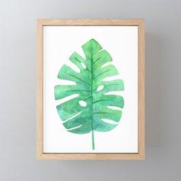 Monstera Lush Green Framed Mini Art Print