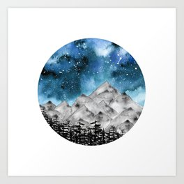 Forgotten Spaces ( Blue ) Art Print