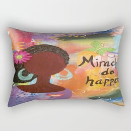 Miracles Do Happen Rectangular Pillow