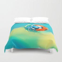 Ladybug in Aqua Mood Duvet Cover