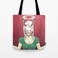 demon Tote Bags featuring Demon by Jauma