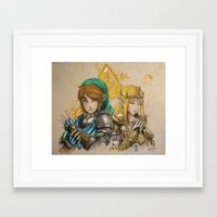 hyrule Framed Art Prints featuring Hyrule Warriors by AdamScythe