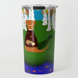 Oliver The Otter at River Wolf Lake in Autumn Travel Mug