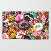 donuts Area & Throw Rugs featuring Donuts by Tina Mooney
