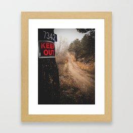 Don't stop exploring Framed Art Print