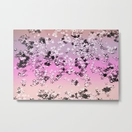 Unicorn Girls Glitter Stars #8 #shiny #decor #art #society6 Metal Print