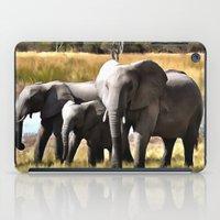 elephants iPad Cases featuring Elephants by Regan's World