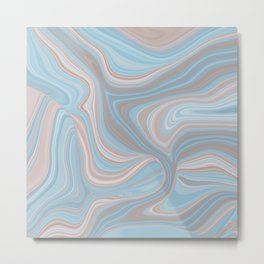 AGATE gem with abstract beach waves #nature Metal Print