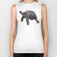 tortoise Biker Tanks featuring Tortoise by Ben Geiger