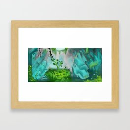 Cave of Crystals Framed Art Print