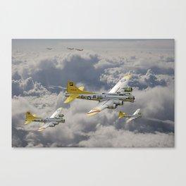 B17- 487th BG en route Canvas Print