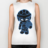tron Biker Tanks featuring Mini Tron by thomasalbany