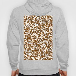 Small Spots - White and Chocolate Brown Hoody
