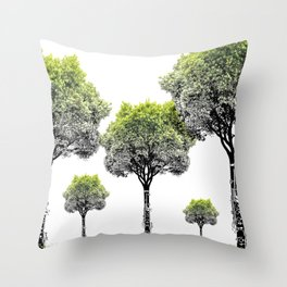 Rooted Sound V (clarinet) Throw Pillow