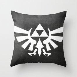 Chalkboard Legend Of Zelda Triforce Throw Pillow