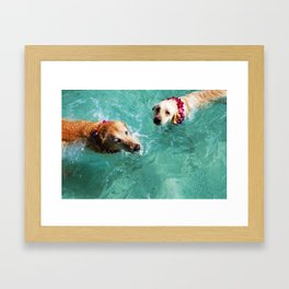 zoey and lainey Framed Art Print