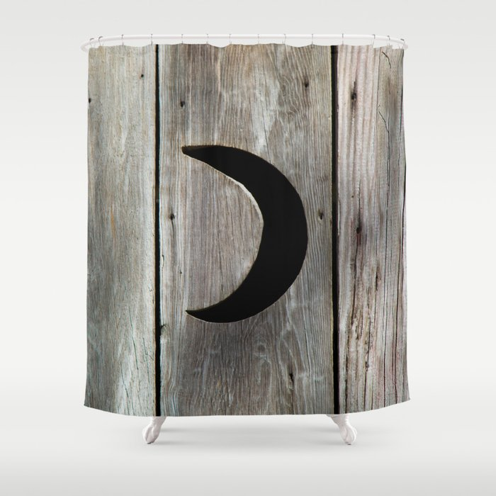Outhouse Moon Shower Curtain By Tiffanydawnsmith Society6