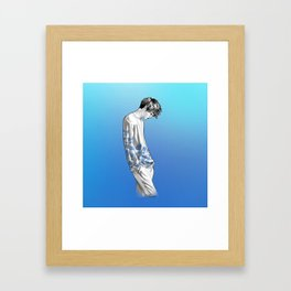 FLOWER BOY TWO: BLUE Framed Art Print