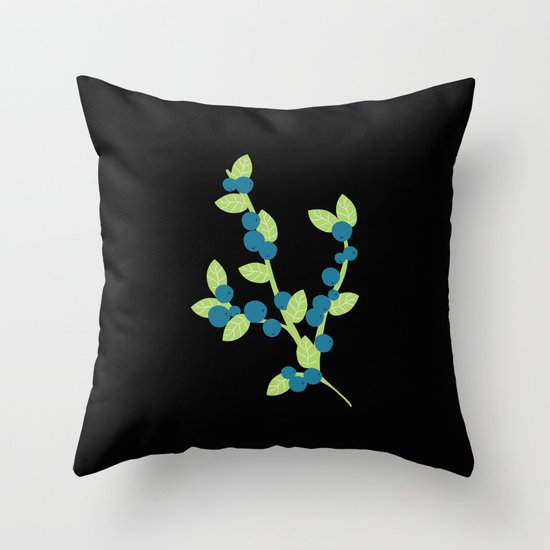 Myrtilles Throw Pillow