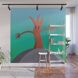 Living Tree On Hill Wall Mural