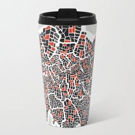 London Boroughs Abstract Map Travel Mug