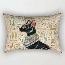 Egyptian Cat - Bastet on papyrus Rectangular Pillow