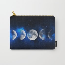 Phases of the Moon Blue Carry-All Pouch