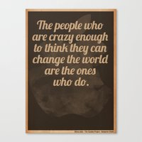 steve jobs Canvas Prints featuring Steve Jobs by The Quotes Project