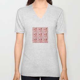 Poppies in the greenery Unisex V-Neck