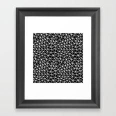 Seg R Black Framed Art Print