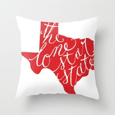 The Lone Star State - Texas Throw Pillow