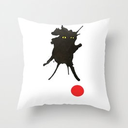 cat with ball #2 Throw Pillow