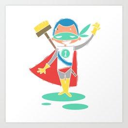 Super Hero 2 Art Print