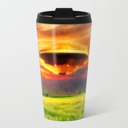 UFO at Sunset Travel Mug