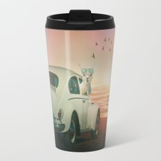 NEVER STOP EXPLORING A SUNDOWN Travel Mug