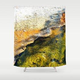 Geyser in Yellow Shower Curtain
