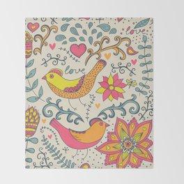 Floral Romantic Pattern 08 Throw Blanket